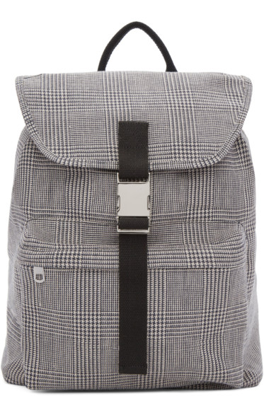 A.P.C. - Black & White Clip Backpack