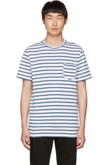 A.P.C. - Blue Striped Michael T-Shirt