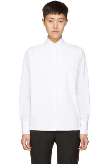 Lanvin - White Poplin High Neck Shirt