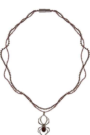Lanvin - Gunmetal Spider Necklace