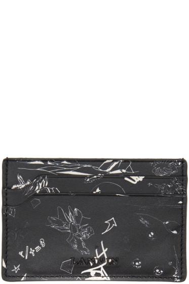 Lanvin - Black Landscape Card Holder