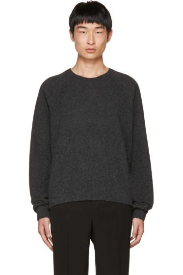 Lanvin - Grey Alpaca Crewneck Sweater