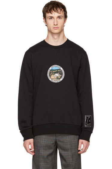 Lanvin - Black 'Paradise' Patch Sweatshirt