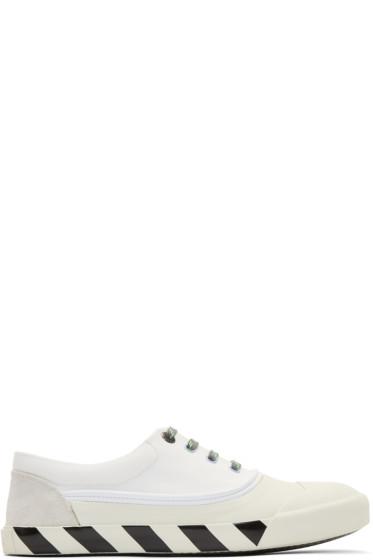 Lanvin - White Canvas Oxford Sneakers