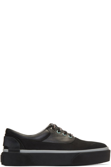 Lanvin - Black Leather Oxford Sneakers