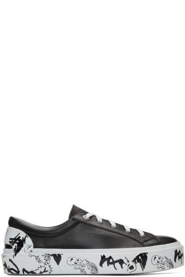 Lanvin - Black Leather Derby Sneakers