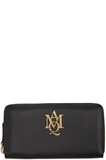 Alexander McQueen - Black Insignia Continental Zip Around Wallet