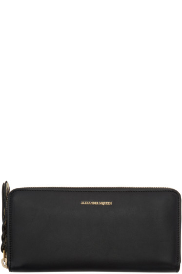 Alexander McQueen - Black Continental Zip Around Wallet