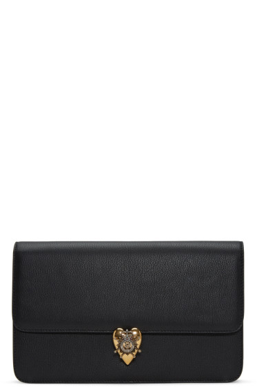 Alexander McQueen - Black Heart Envelope Clutch