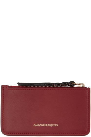 Alexander McQueen - Red Leather Coin Pouch