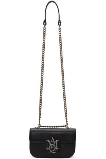 Alexander McQueen - Black Small Insignia Chain Satchel