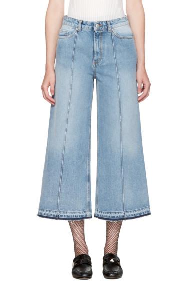 Alexander McQueen - Blue Denim Culottes