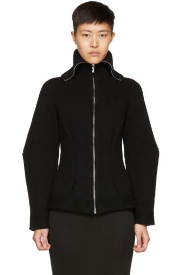 Alexander McQueen - Black Cashmere Zip Cardigan