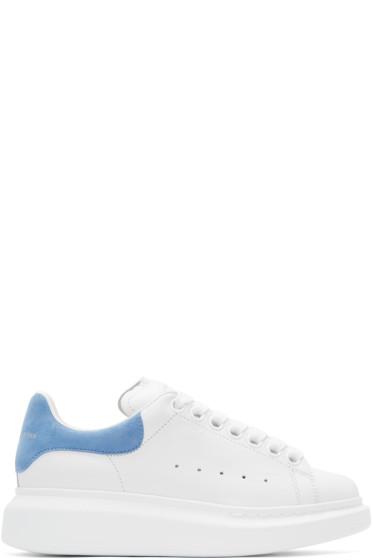 Alexander McQueen - White & Blue Oversized Sneakers
