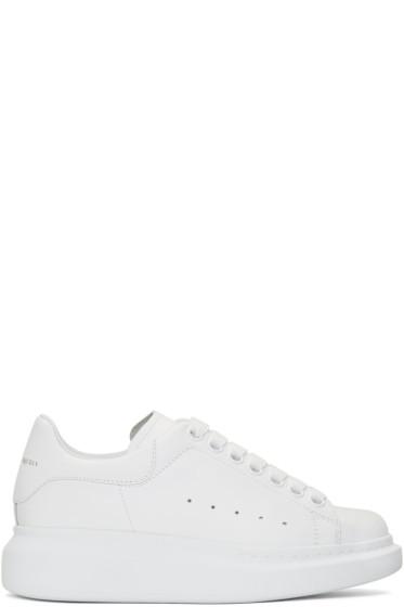 Alexander McQueen - SSENSE Exclusive White Oversized Sneakers