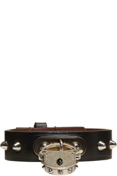 Alexander McQueen - Leather Studded Padlock Bracelet