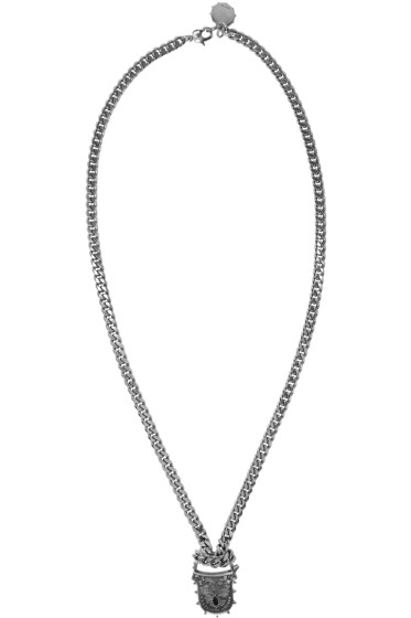 Alexander McQueen - Silver Padlock Chain Necklace