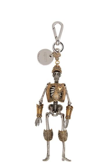 Alexander McQueen - Silver & Gold Skeleton Keychain