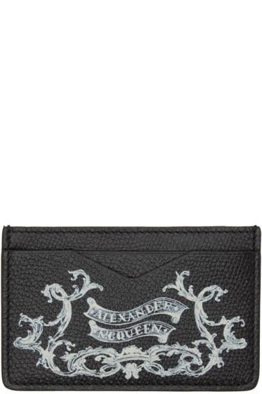 Alexander McQueen - Black 'Coat of Arms' Card Holder