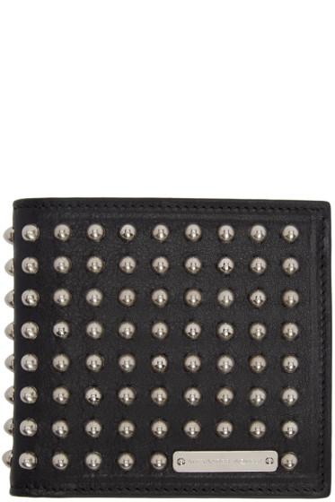Alexander McQueen - Black Studded Bifold Wallet