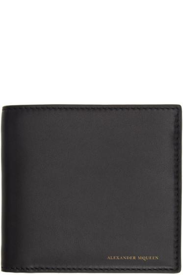Alexander McQueen - Black Leather Bifold Wallet
