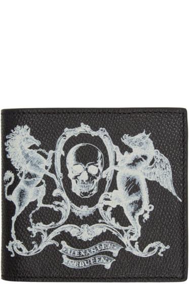 Alexander McQueen - Black 'Coat of Arms' Bifold Wallet