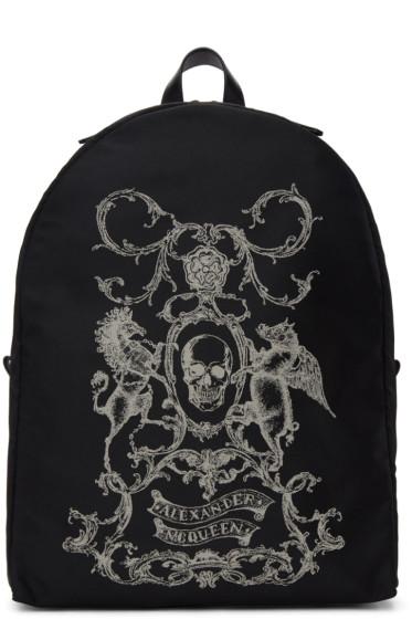 Alexander McQueen - Black 'Coat of Arms' Backpack