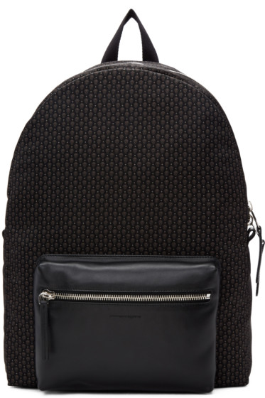 Alexander McQueen - Black & Grey Skull Pocket Backpack