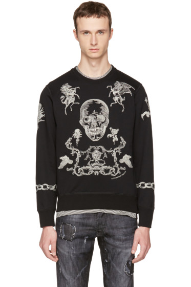 Alexander McQueen - Black Embroidered Skull Sweatshirt