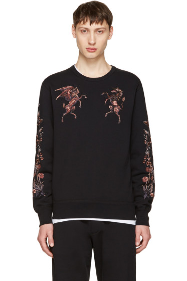 Alexander McQueen - Black Embroidered Sweatshirt