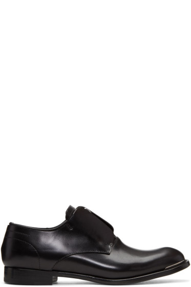 Alexander McQueen - Black Zip Oxfords