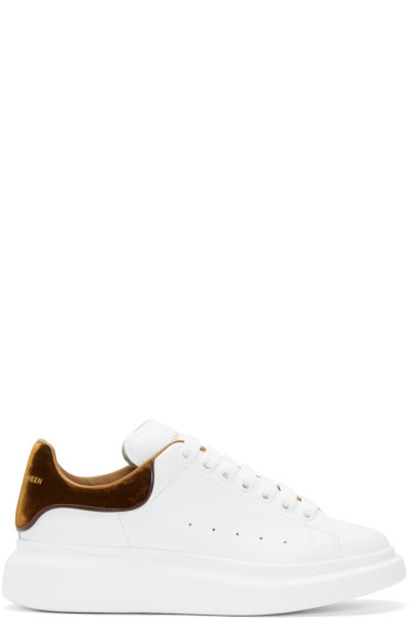 Alexander McQueen - White & Tan Oversized Sneakers