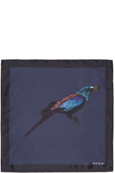 Paul Smith - Navy Mainline Bird Pocket Square