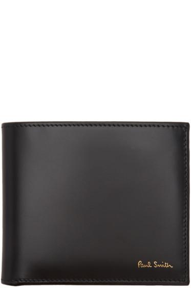 Paul Smith - Black Classic Multistripe Bifold Wallet