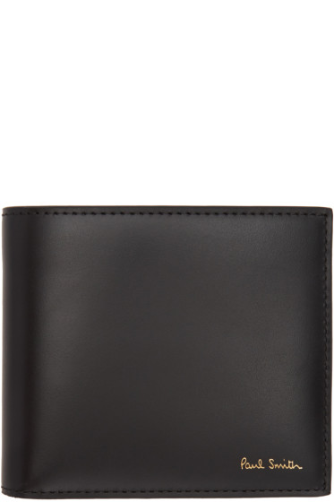 Paul Smith - Black Color Band Bifold Wallet