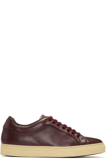 Paul Smith - Burgundy Perforated Basso Sneakers