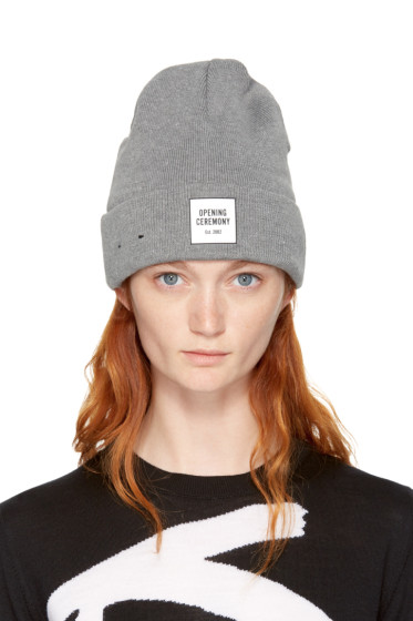 Opening Ceremony - Grey New Era Edition Logo Beanie