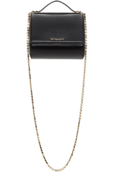 Givenchy - Black Mini Pandora Box Chain Bag