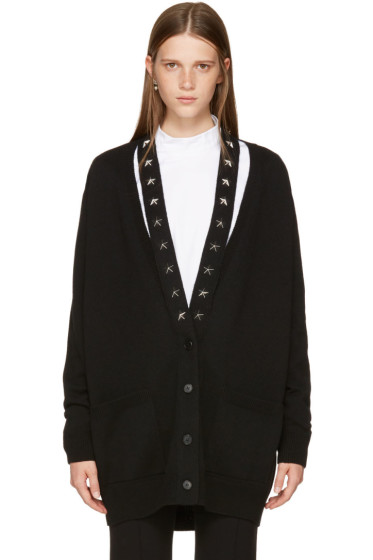 Givenchy - Black Cashmere Stars Cardigan