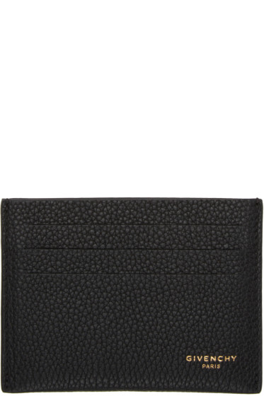 Givenchy - Black Leather Card Holder