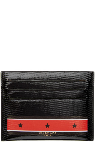 Givenchy - Black Stars & Stripes Card Holder