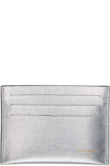 Givenchy - Silver Leather Card Holder