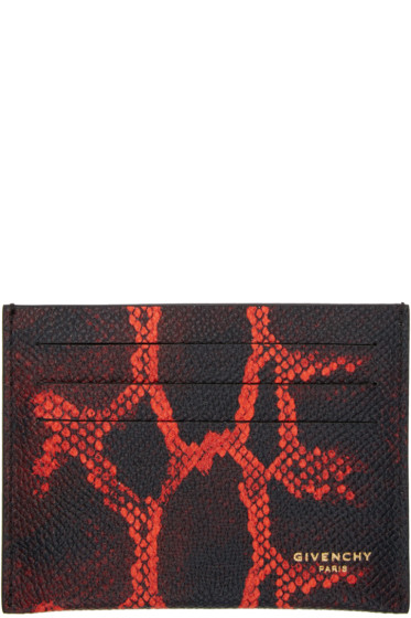 Givenchy - Black Python Card Holder