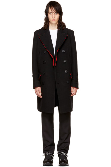 Givenchy - Black Long Wool Peacoat