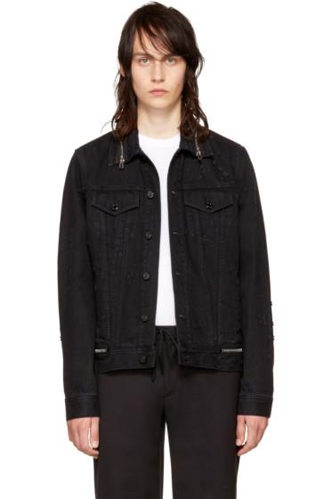 Givenchy - Black Denim Zipper Jacket