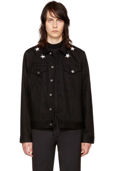 Givenchy - Black Denim Stars Jacket