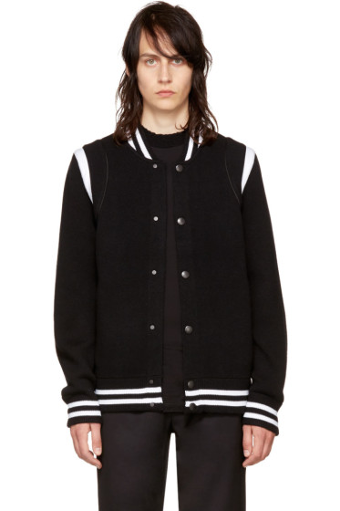 Givenchy - Black Knit Teddy Jacket