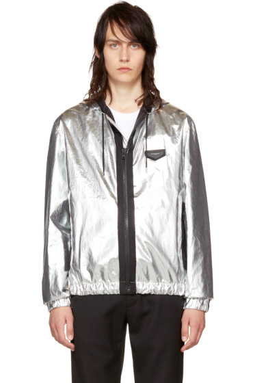 Givenchy - Silver Hooded Windbreaker
