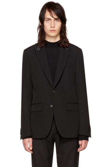 Givenchy - Black Studded Lapel Blazer
