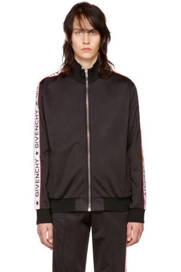 Givenchy - Black Logo Sleeves Track Jacket